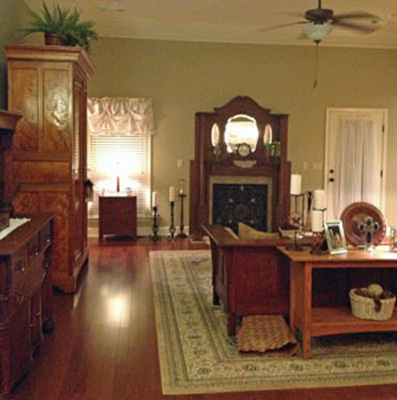 EuroLuxAntiques.com clients Sandy and Brent gravitate toward French Country and Arts and Crafts styles furniture.