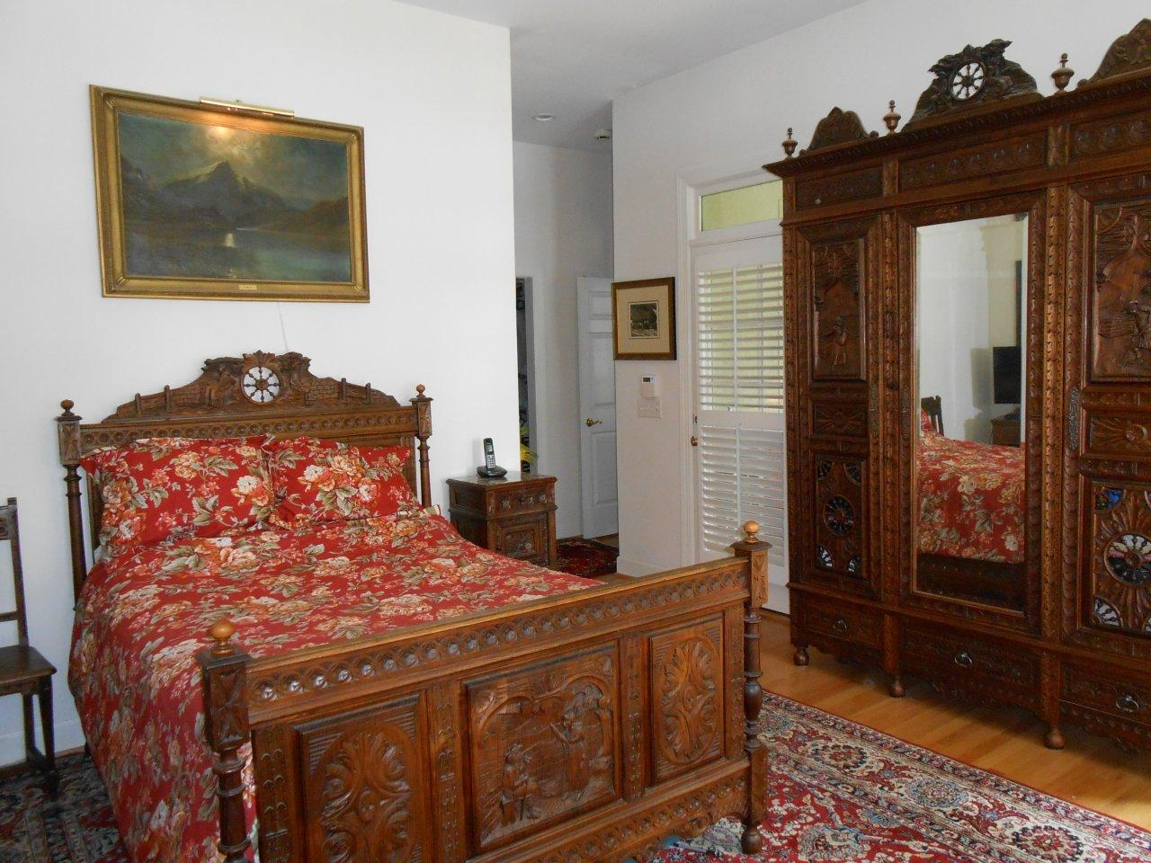 Antique Brittany bedroom suite in our client's home. EuroLuxAntiques.com
