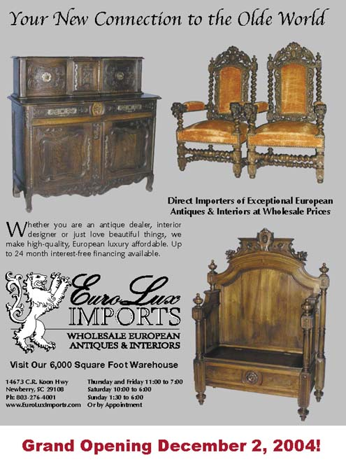Our very first advertisement for the opening of EuroLuxAntiques.com 2004