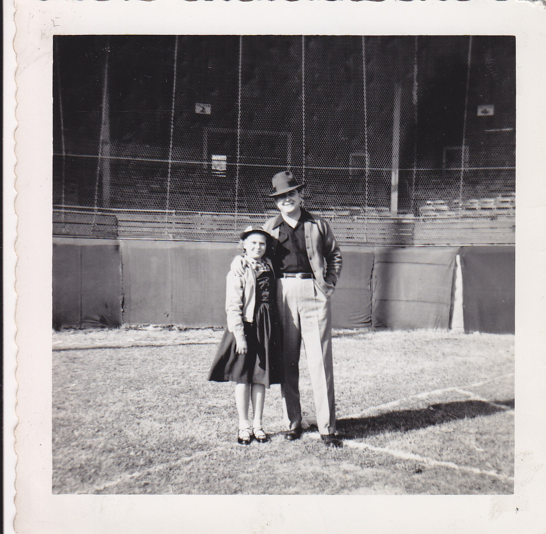 Family photograph of Kathy (our Director of Restoration Services) with her dad at Duncan Park in Spartanburg, 1951. EuroLuxAntiques.com
