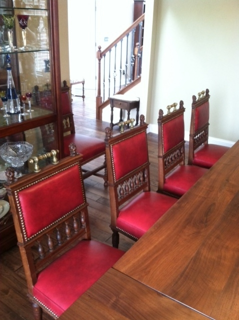 Antique chairs after reupholstery. EuroLuxAntiques.com