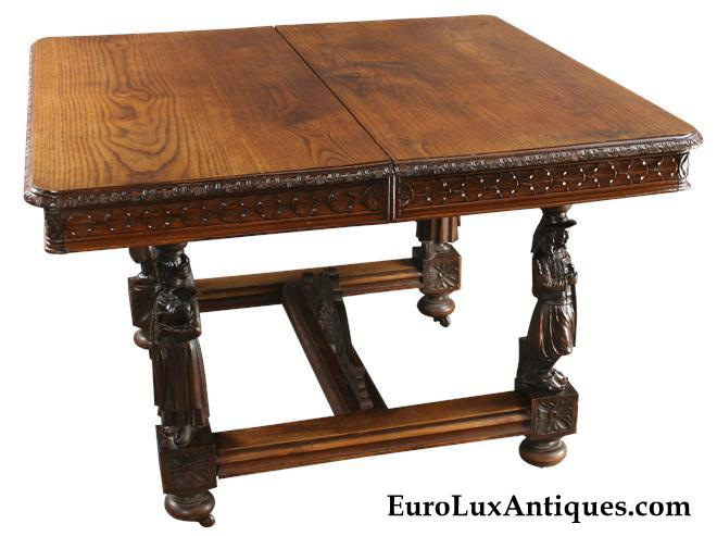 Antique Farmhouse Style Table, 1880, Brittany