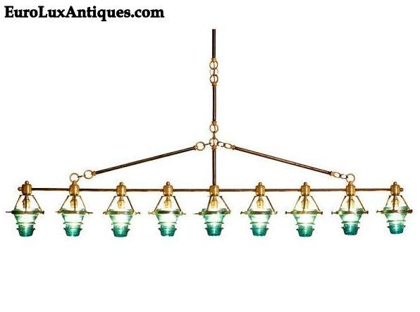 Upcycled Chandelier made from vintage electrical insulators