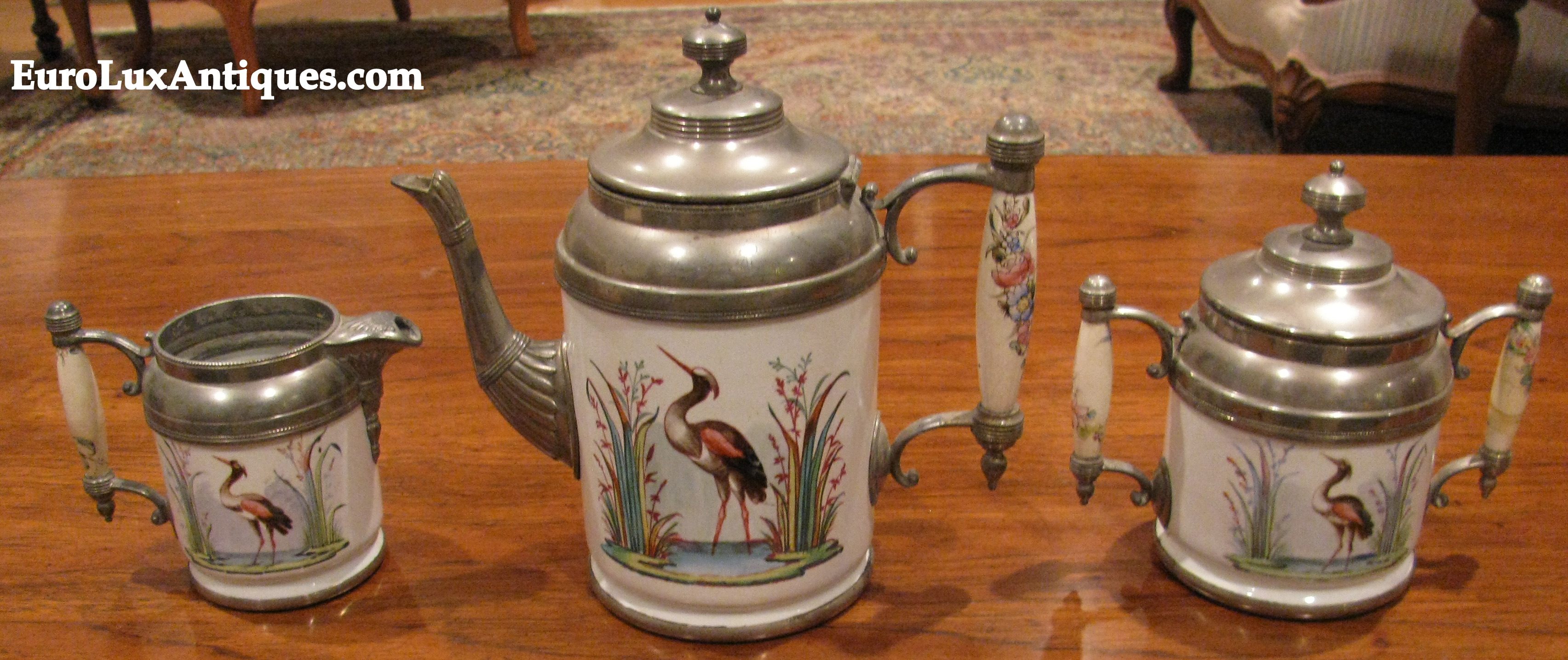 German enamelware coffee set