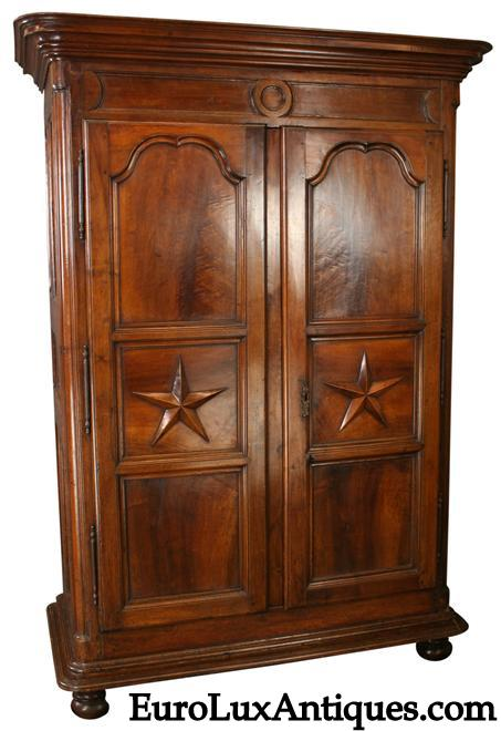 1710 Louis XIV armoire purchased by movie critic Gene Siskel at Biennale de Paris. On consignment at EUROLUXANTIQUES.COM