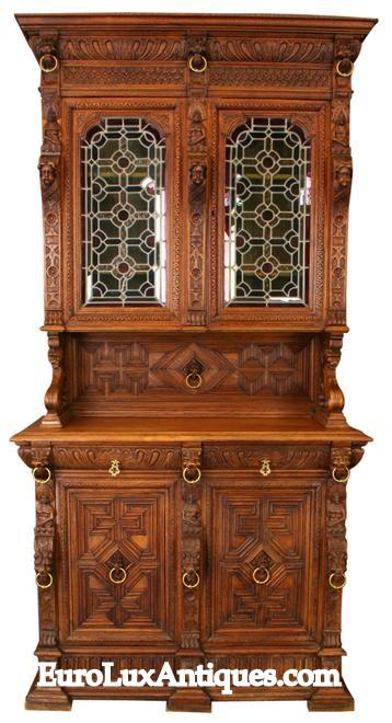 Mechelen Style Antique Furniture - this buffet dates to 1900