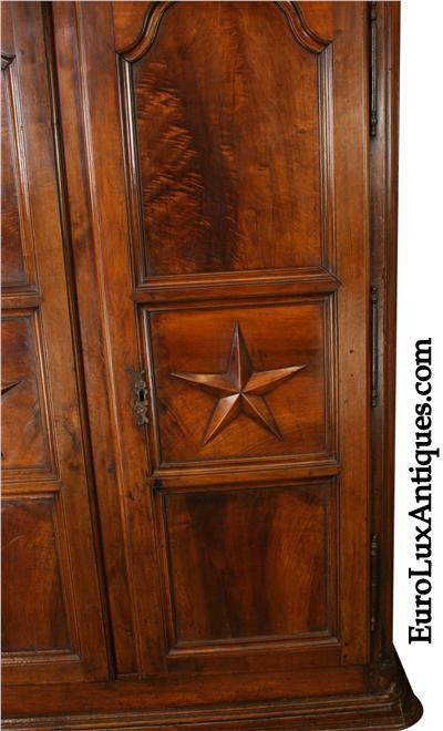 Louis XIV Armoire Star Doors