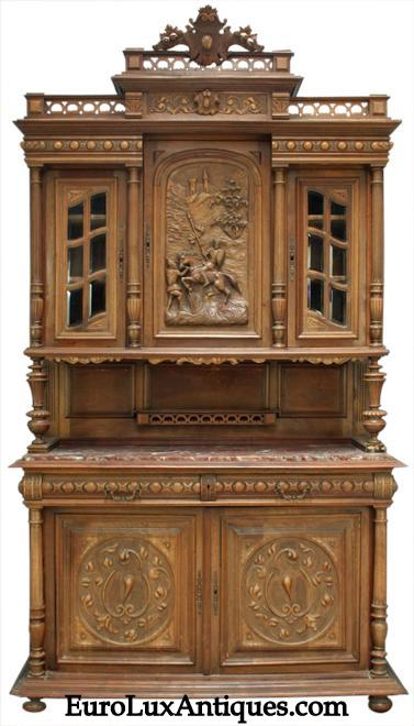 Antique French Renaissance Buffet from EuroLuxAntiques.com