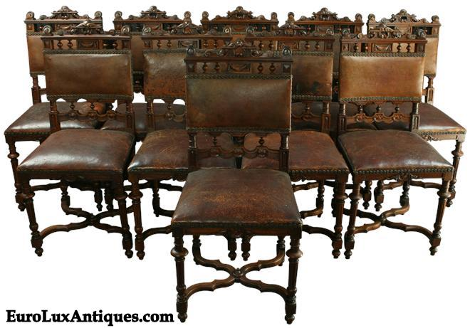 Antique French Renaissance Chairs From EuroLuxAntiques.com