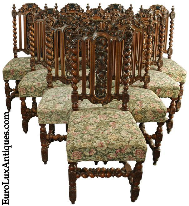 10 Hunting Chairs for our client's Victorian Restoration dining room