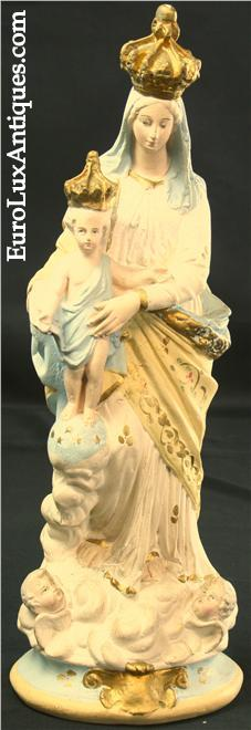 Our Lady of Victory Madonna antique statue