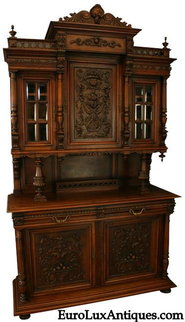 Antique Renaissance Buffet for our client's Victorian Restoration DIning Room