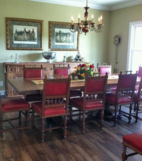 Antique dining room furniture in our client's home