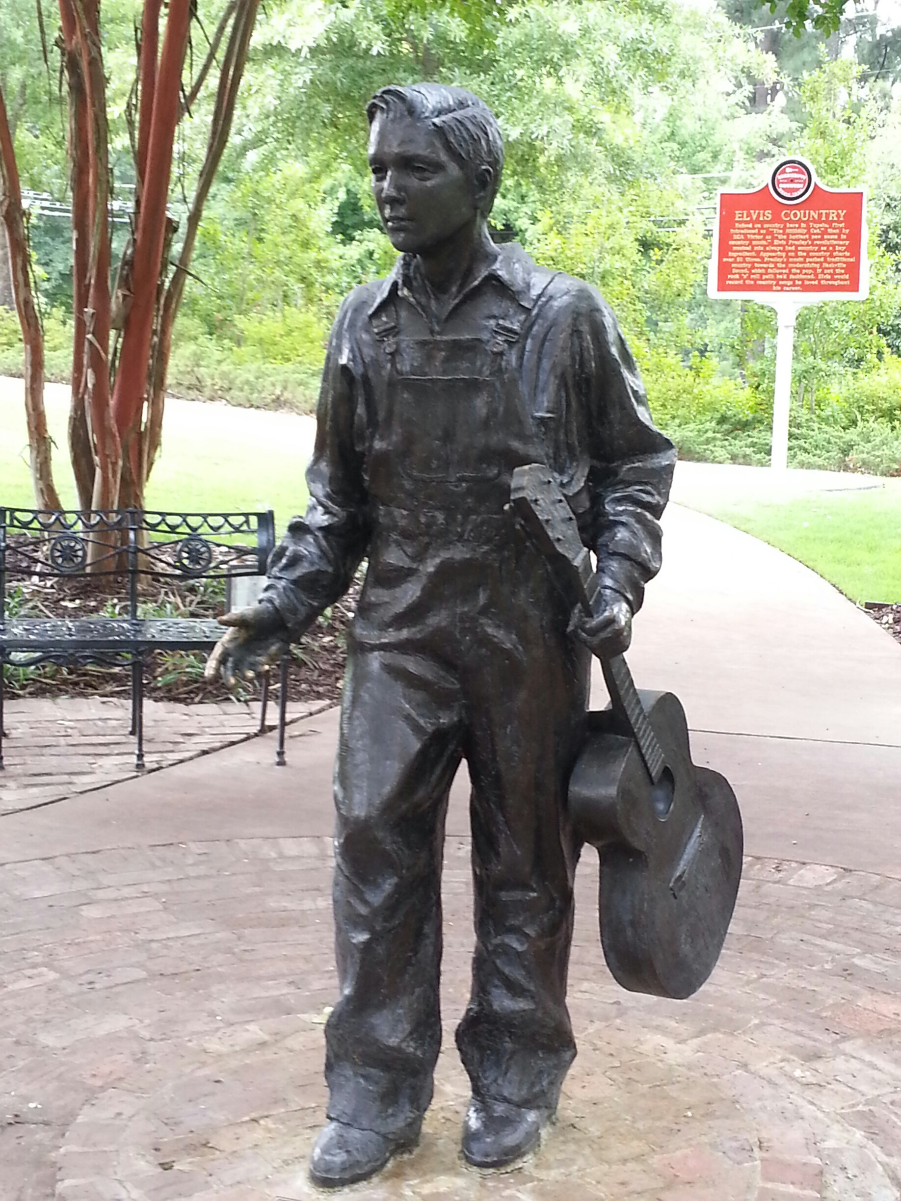 Young Elvis statue at Tupelo in honor of the South Carolina Elvis Festival