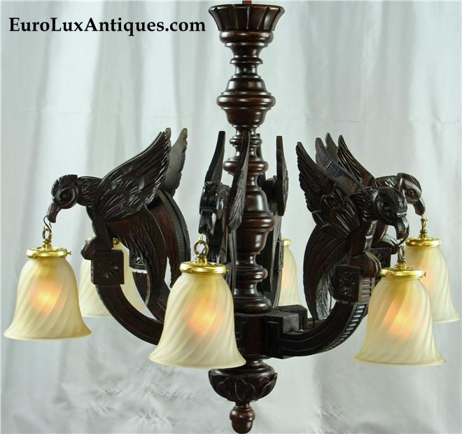 Eagle Gothic Chandelier