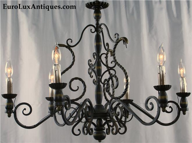 Boho style Mission chandelier