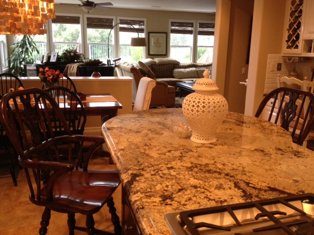 Windsor counter stool in our client's kitchen