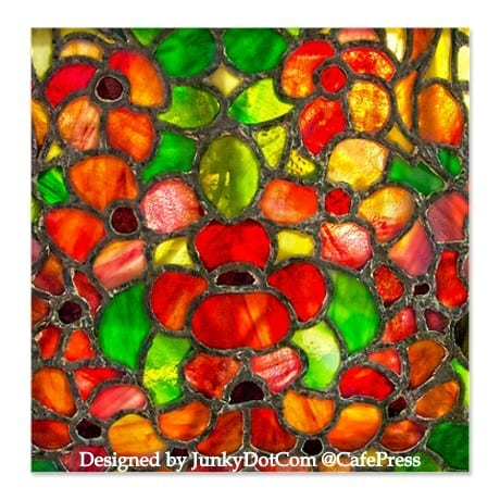 Shower curtain: Stained glass in home decor accent