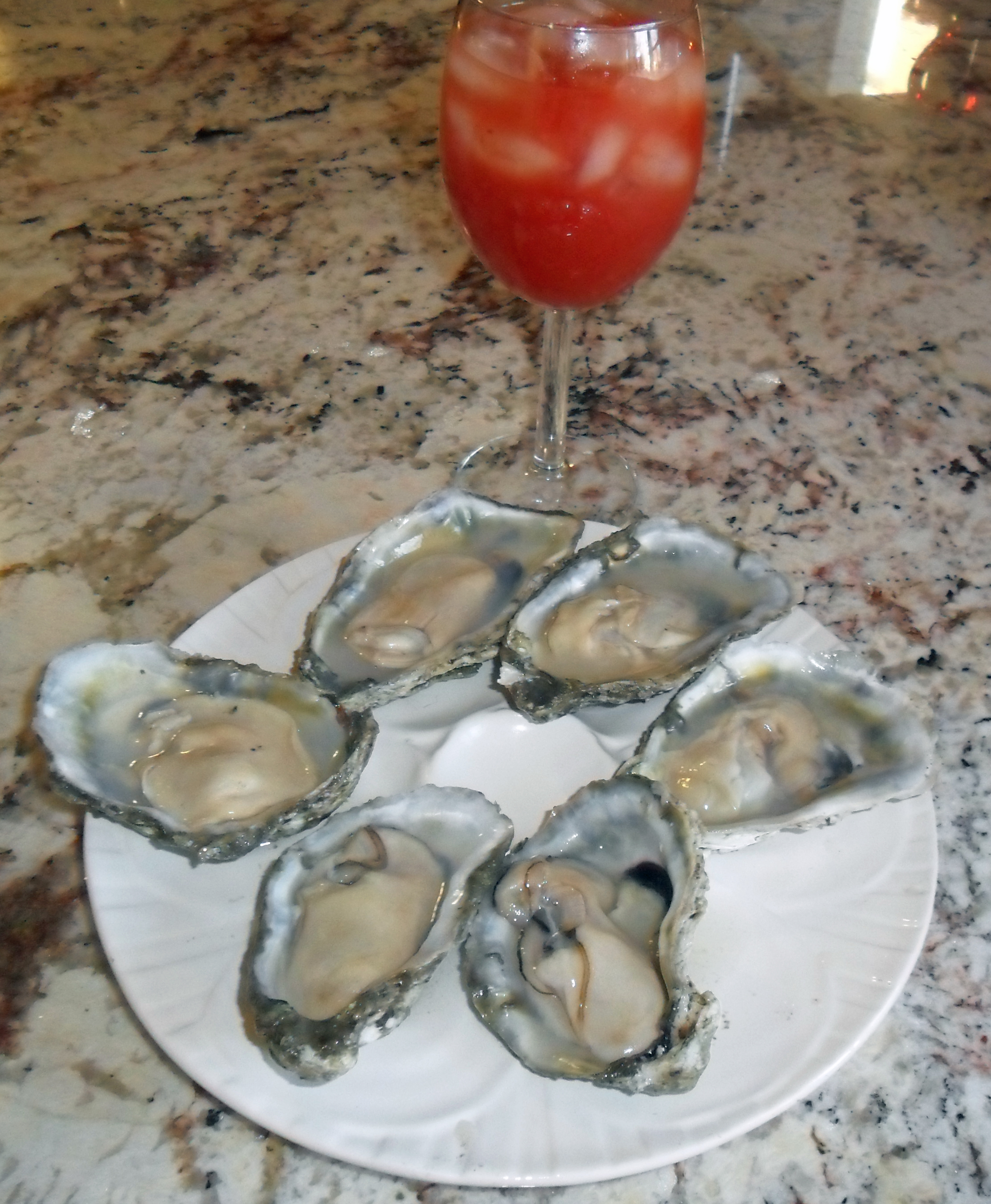 Oysters and Bloody Mary