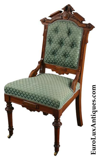 Antique carved Eastlake chair