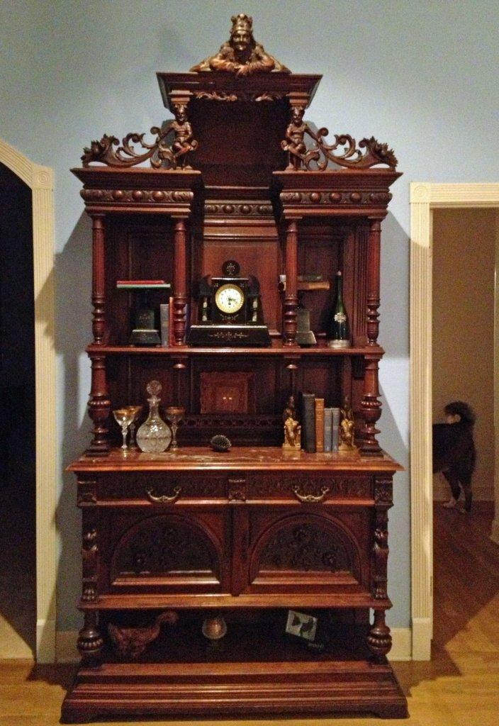 Antique carved French Renaissance buffet
