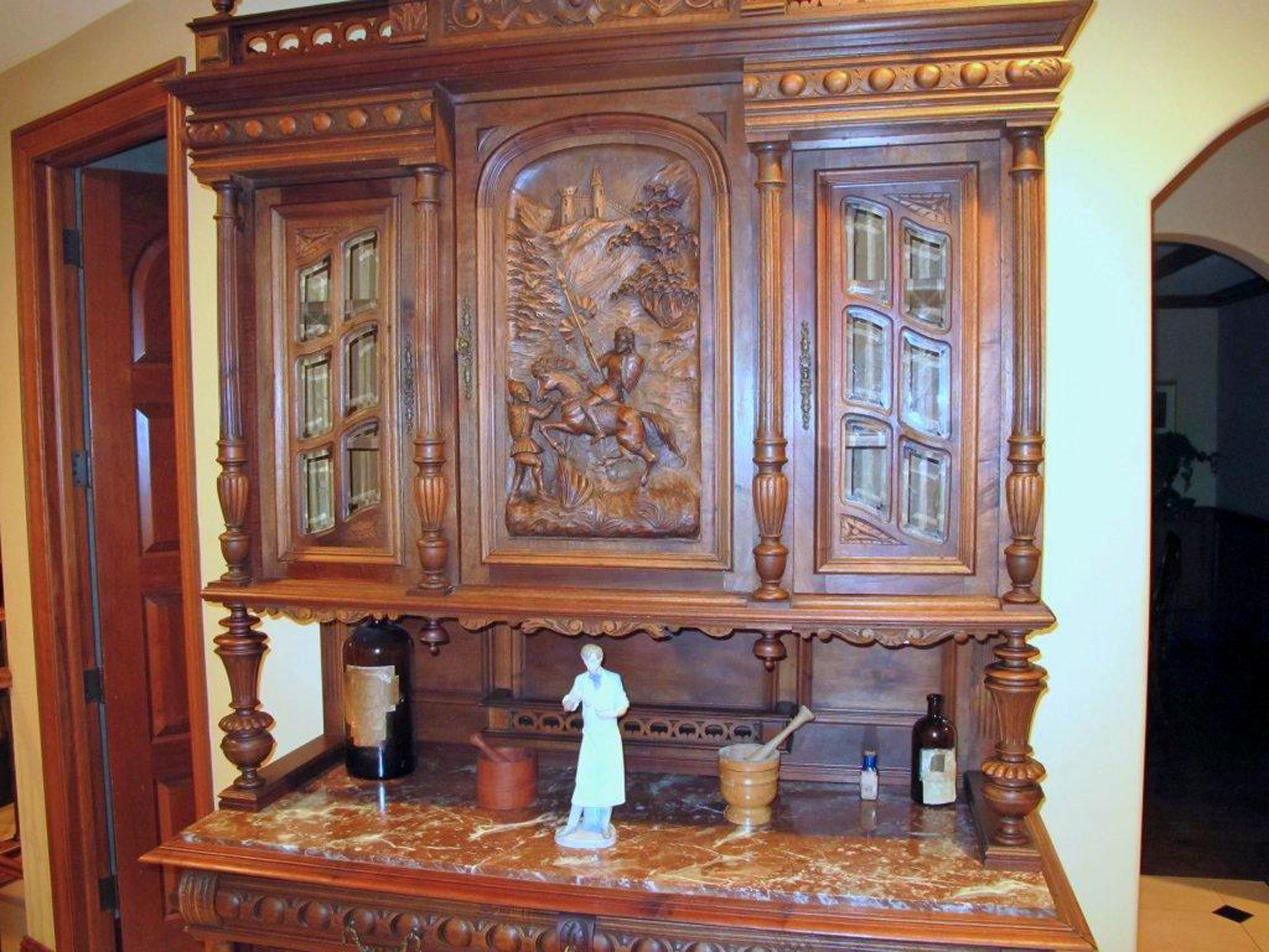 Antique buffet inspired Renaissance mural