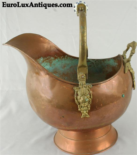 Vintage copper scuttle