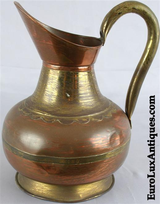 Vintage copper brass pitcher