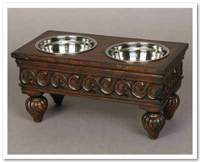 antique style pet furniture feeder