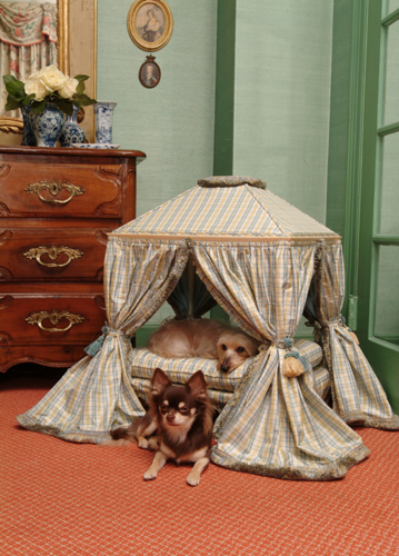 Upscale antique style pet furniture