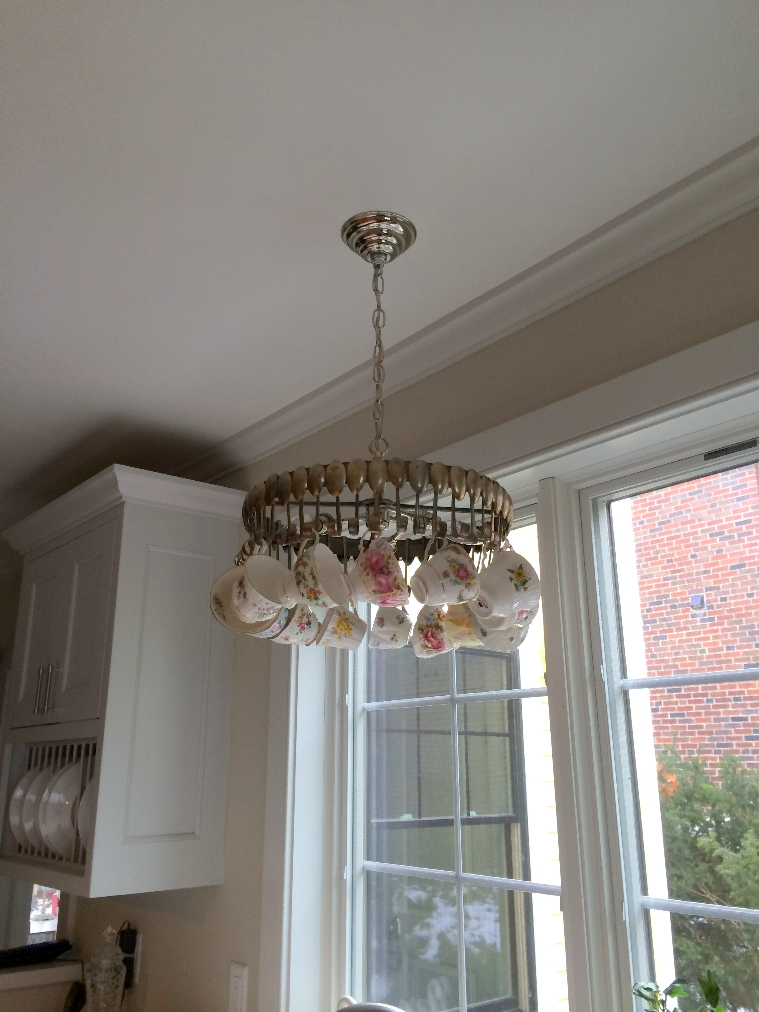 Upcycled home accent - a vintage spoon chandelier