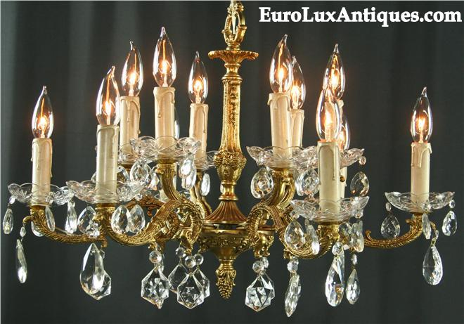 Vintage chandelier glass