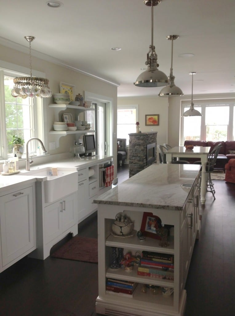 Kitchen with spoon chandelier