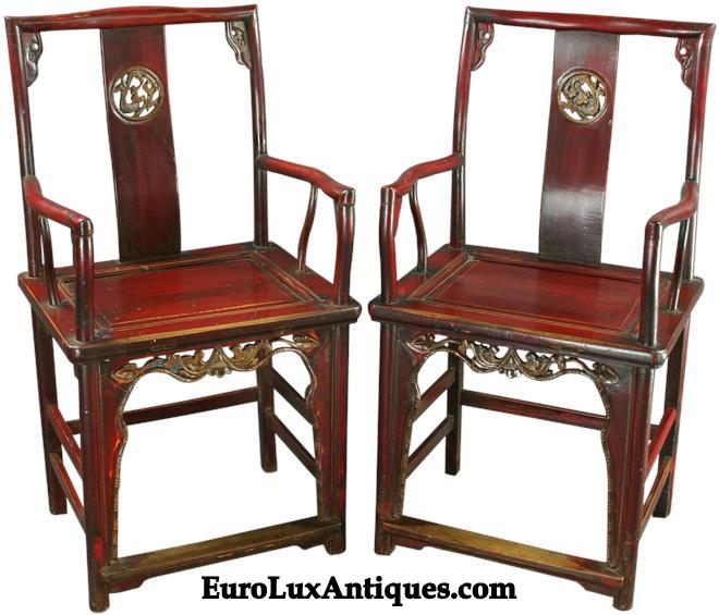 Chinese antique armchairs