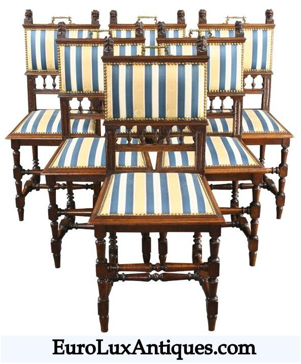 Antique French chairs for navy blue decor