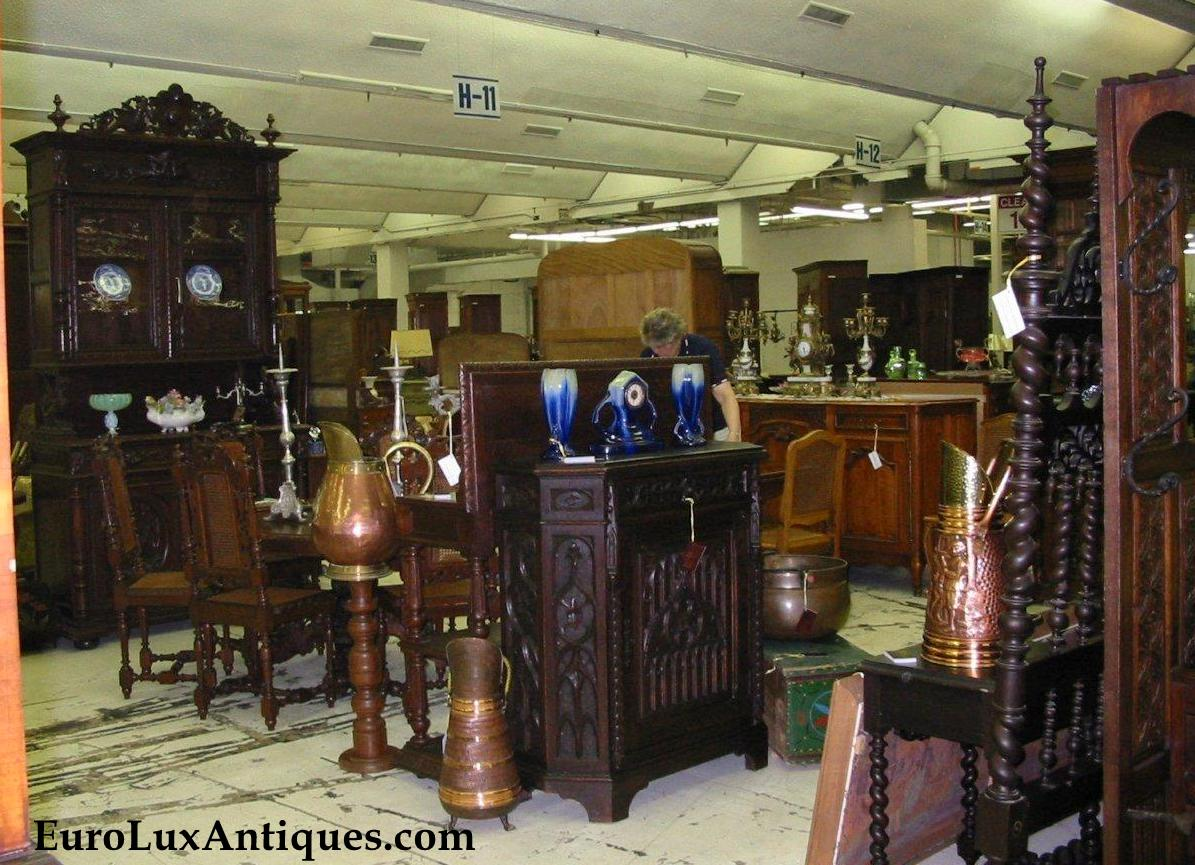 Our booth at our first antique show