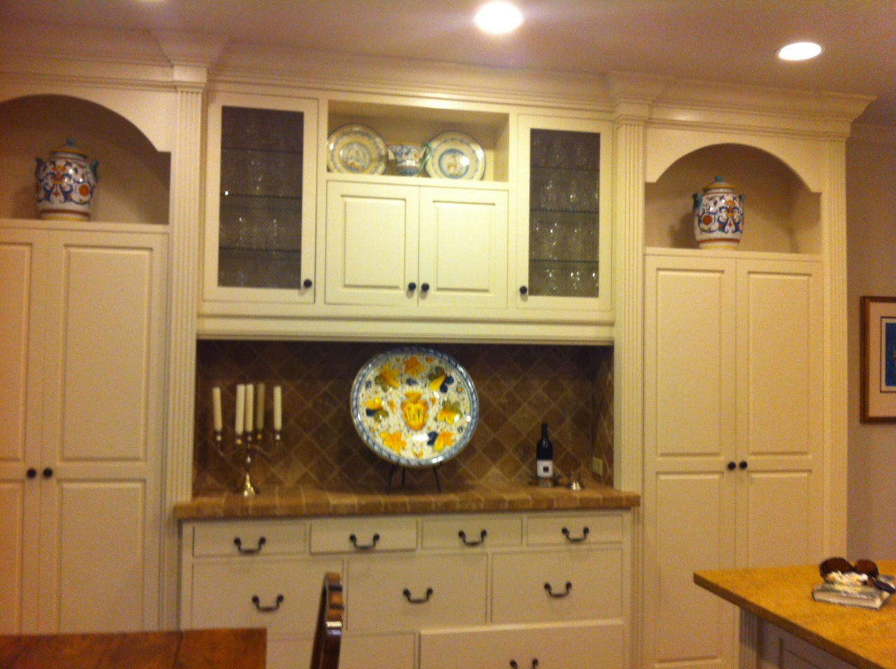 Vintage Deruta ceramics in our client's kitchen
