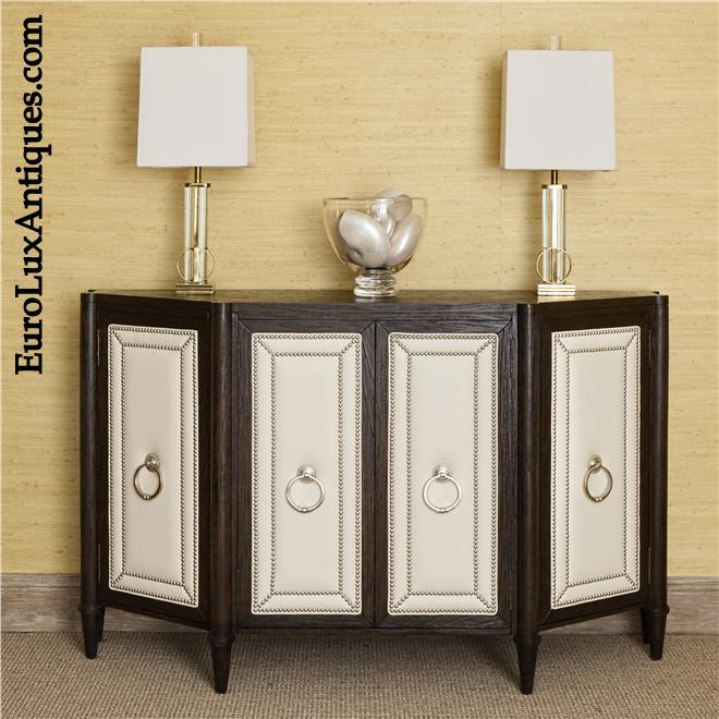 Nailhead trim on Ambella Home Sideboard