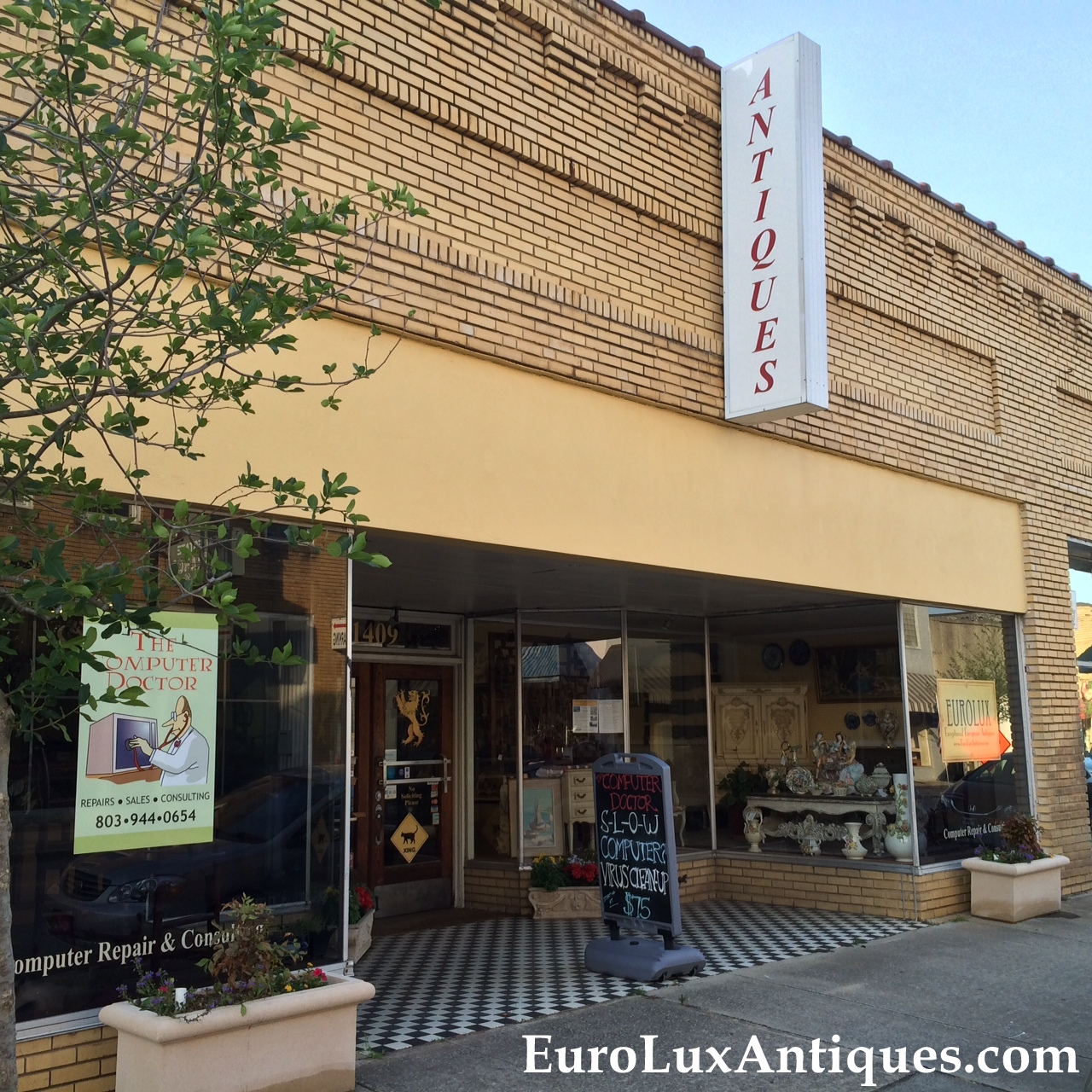 EuroLux Antiques on Newberry Main Street