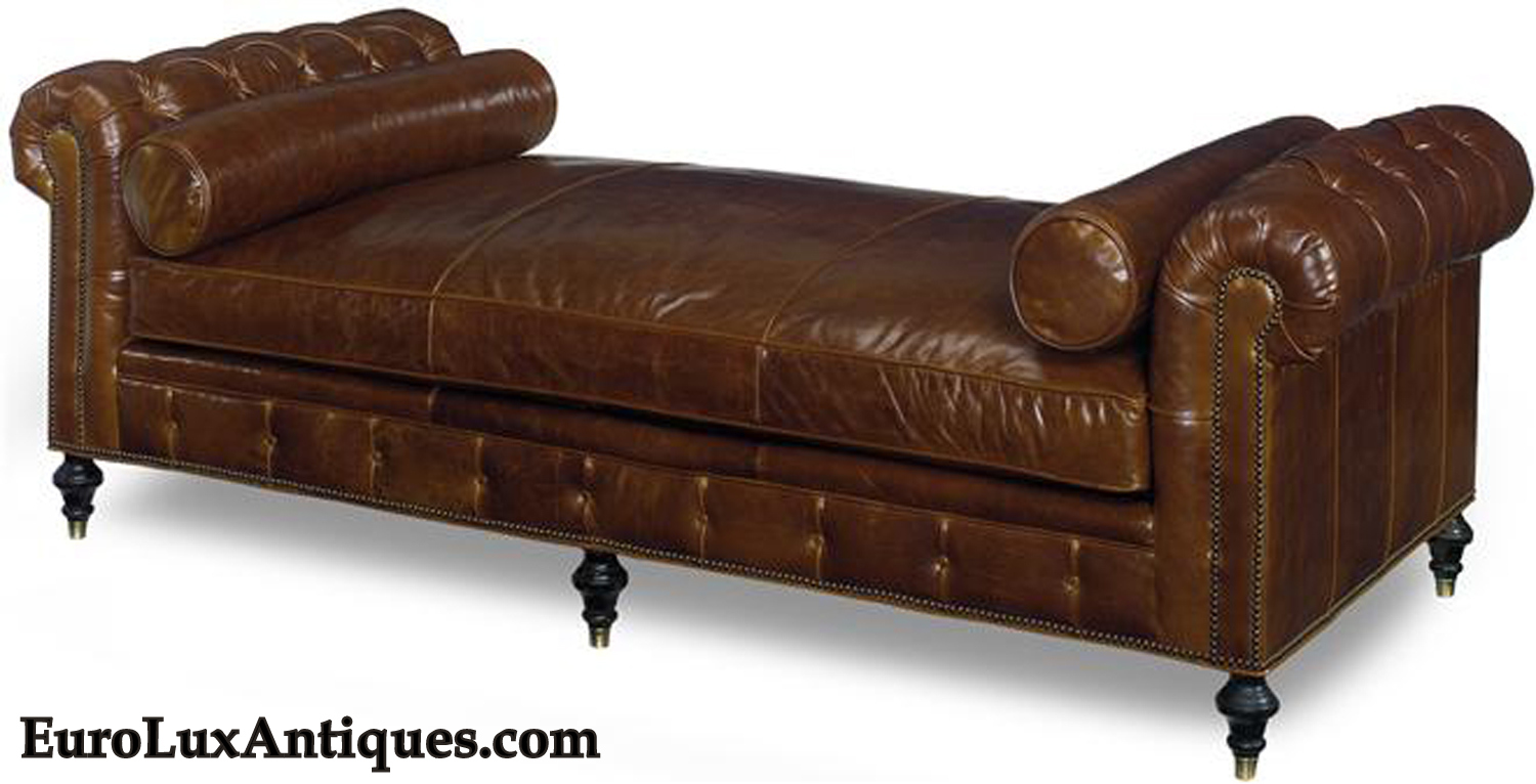 Leather sofa daybed letters from eurolux for Chaise longue daybed