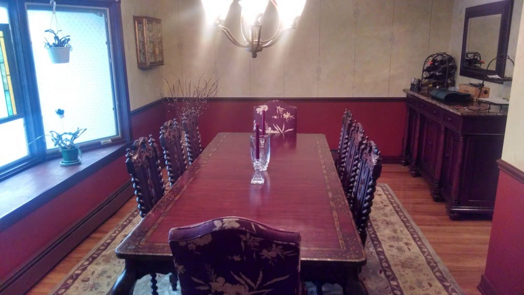 French Antique Hunting Chairs in our client's dining room