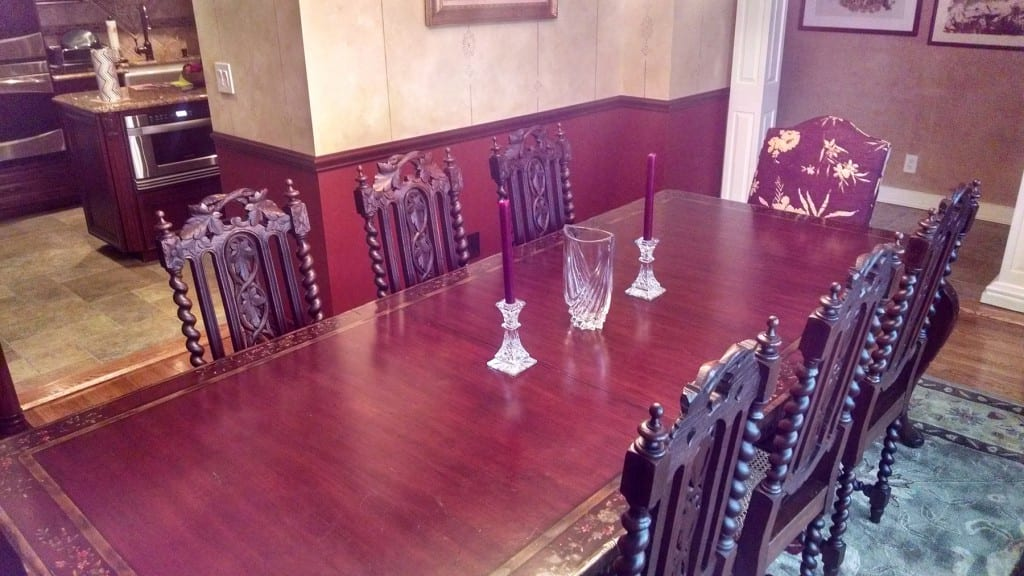 Antique Hunting Chair Dining Room