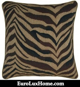 Aubusson Zebra Throw Pillow