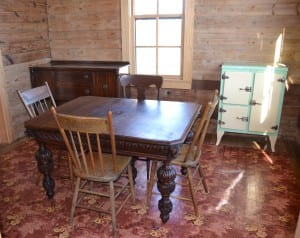 Antique table from EuroLuxAntiques.com in Johnny Cash Boyhood Home