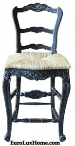 Carved French Country Stool