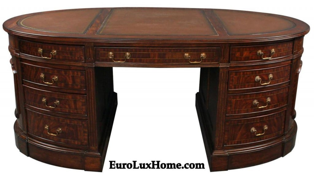 Mahogany Partners Desk at EuroLux Home