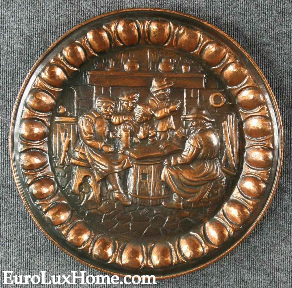 Vintage copper accent in a Flemish copper plate