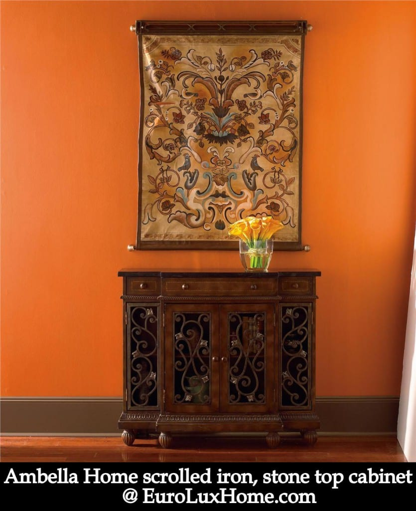 Ambella Home cabinet orange decor