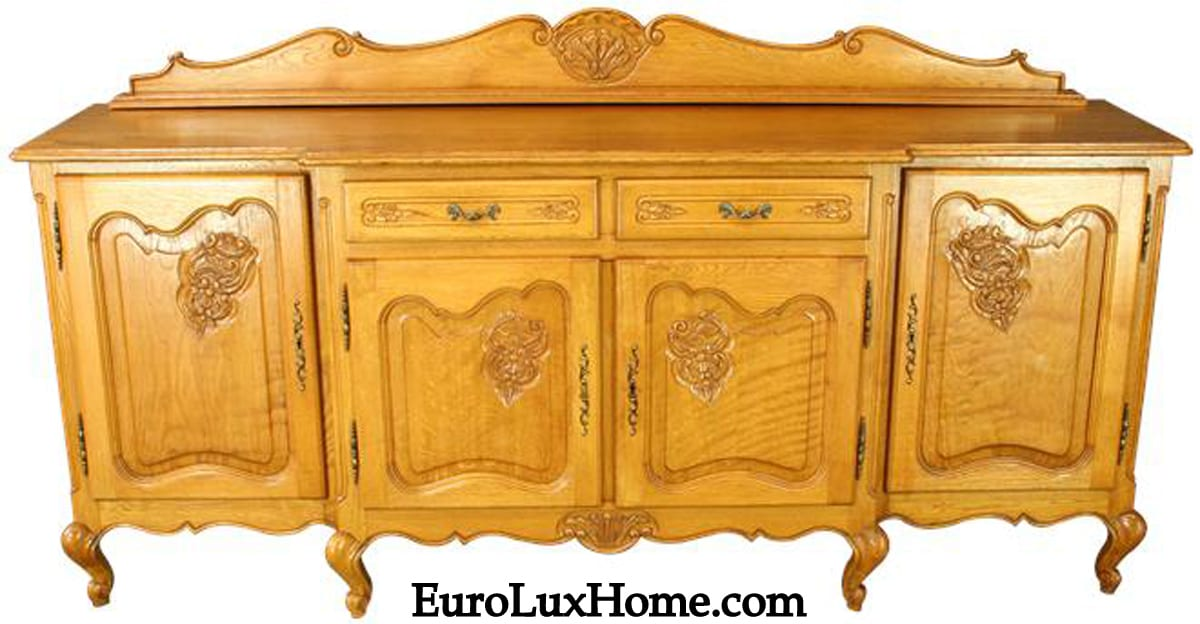Vintage Louis XV French Country sideboard