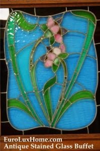 Antique Buffet stained glass